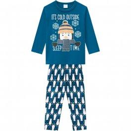 Imagem - Pijama Infantil Malha Kyly Pinguim cód: 17216004