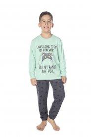 Imagem - Pijama Infantil Peluciado Game Have Fun cód: 17157004