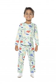 Imagem - Pijama Infantil Peluciado Vrasalon Verde cód: 16990004