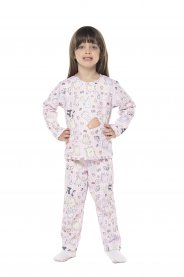 Imagem - Pijama Infantil Pelúciado Vrasalon Bichinhos cód: 16988003