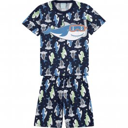 Imagem - Pijama Infantil Tubarão Brilha no Escuro Kyly cód: 17557006