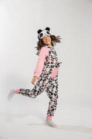 Imagem - Pijama Macacão Panda Kukiê Peluciado cód: 17261003