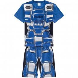 Imagem - Pijama Infantil Kyly Robô Azul cód: 16709002