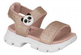Imagem - Sandália Infantil Molekinha Panda Com Glitter cód: 16639013