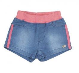 Imagem - Short Jeans Infantil Confort Com Detalhes Rosa cód: 17483019