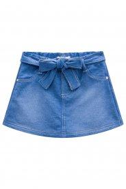 Imagem - Short Saia Infantil Jeans Molecotton Kukiê cód: 16968019