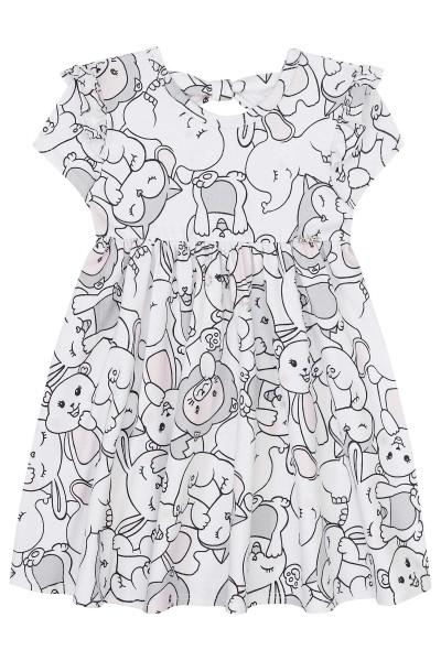 Imagem - Vestido Bebê Kukiê em Cotton com Faixa de Cabelo cód: 15509001