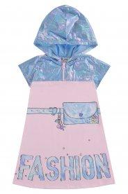 Imagem - Vestido Infantil Fashion com Capuz Kukie cód: 17402003
