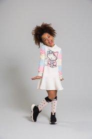Imagem - Vestido Infantil com Capuz manga longa Kukie cód: 17320007
