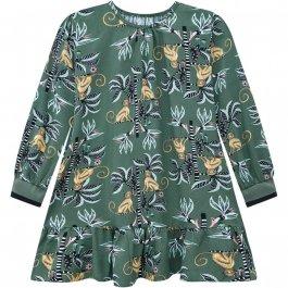 Imagem - Vestido Infantil Floreado Tecido Nanai Macaco cód: 17208004