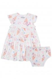 Imagem - Vestido e Calcinha Infantil Kukiê de Sorvete cód: 16435001