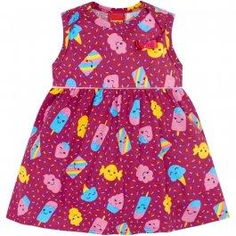 Imagem - Vestido Body Bebê Kyly Estampado Com Doces cód: 16579012
