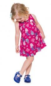 Imagem - Vestido Infantil Kyly de Regata Com Sereias com Recorte nas Costas cód: 16604012
