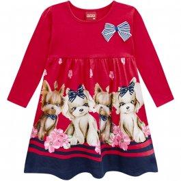 Imagem - Vestido Infantil Vermelho DOG cód: 16942005