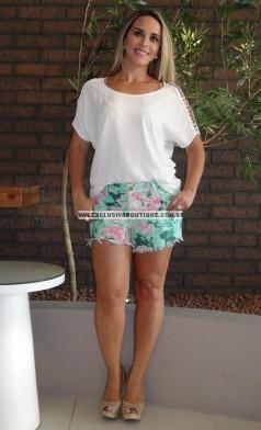 Imagem - Bermuda Lança Perfume Bicolor Primavera/Verão - Estampado