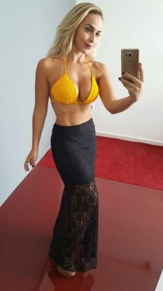 Imagem - Biquíni Exclusiva Croche Amarelo Com Bojo - Amarelo