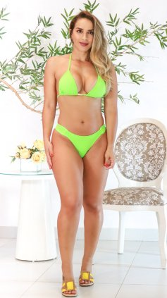 Imagem - Biquíni Garota Do Mar Cortininha - Verde Neon
