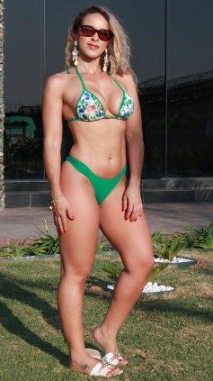 Imagem - Biquini Garota Do Mar Com Bojo Cortininha Fio Dental  - verde