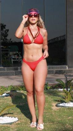 Imagem - Biquini Garota Do Mar Com Bojo Cortininha Fio Dental  - vermelho