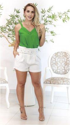 Imagem - Blusa Alça Botões - Verde
