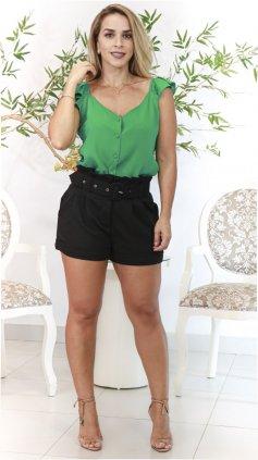 Imagem - Blusa Babado Ombros - Verde