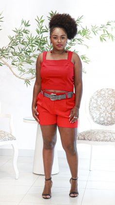 Imagem - Blusa Cropped Alcinha - Vermelho
