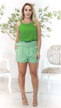 Imagem - Blusa Decote Trançado  - Verde