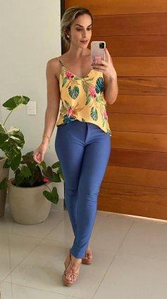 Imagem - Blusa Regata Floral - Amarelo Floral