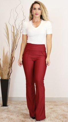 Imagem - Blusa Anne  T-shirt Feminina Com Renda Decote - Off White