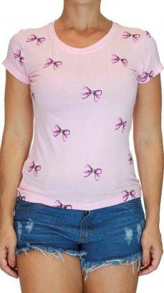 Imagem - Blusa Tshirt Camiseta Feminina Estampas Várias Cores - Rosa Claro