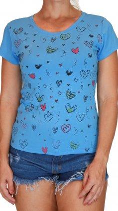 Imagem - Blusa Feminina Tshirt Estampas Varias Cores - Azul