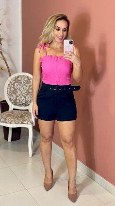 Imagem - Blusa Lastex Alças Finas  - Rosa