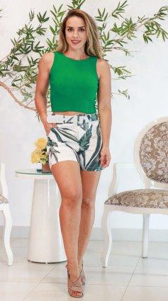 Imagem - Blusa Regata Tricô Modal - Verde Escuro