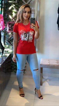 Imagem - Blusa T-shirt Estampada - Vermelho