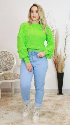 Imagem - Calça Feminina Mom Jeans Com Cinto  - Jeans Claro