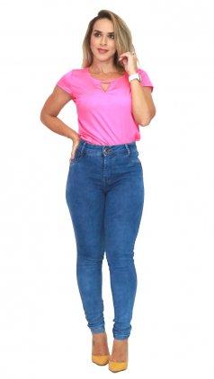 Imagem - Calça Jeans Cós Alto - Jeans