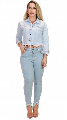 Imagem - Calça Jeans Feminina Barra Bordada Degrant - Jeans