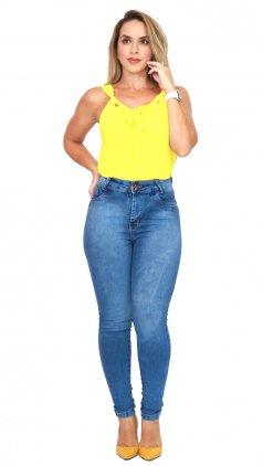 Imagem - Calca Jeans Feminino Cós Alto - Jeans