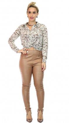 Imagem - Calça Miss Slim Plus Size O20 - Marrom