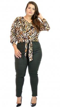 Imagem - Calça Miss Slim Plus Size O20 - Verde