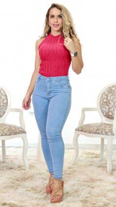 Imagem - Calça Skiny Jeans Claro - Jeans Claro