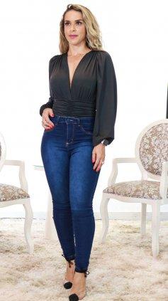 Imagem - Calça Skiny Jeans Claro - Jeans Escuro
