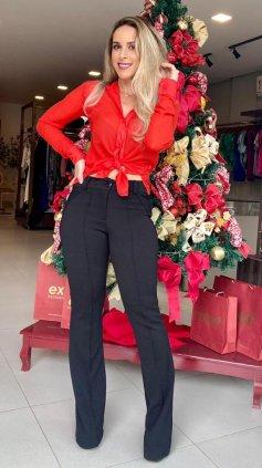 Imagem - Camisa Manga Longa  - Vermelho