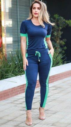 Imagem - Conjunto Blusa e Calça  - Verde