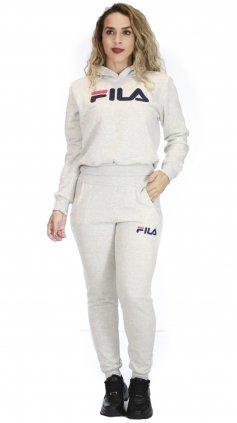 Imagem - Conjunto Feminino Moletom Esportivo Fitness Flanelado - Off White