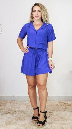 Imagem - Conjunto Viscolinho Short - azul