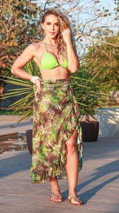 Imagem - Saia Pareo Garota Do Mar Estampada - Verde