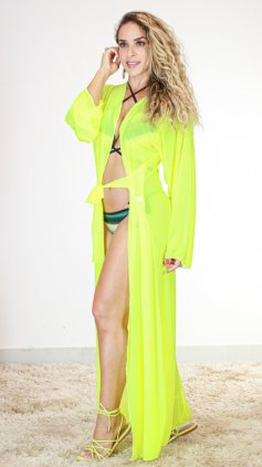 Imagem - Saida Tule Especial  - amarelo neon