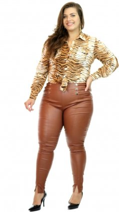 Imagem - Calça Miss Slim Plus Size O20 - Telha