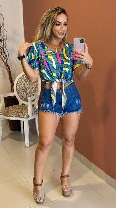 Imagem - Short Destoyed Barra Desfiada - Jeans